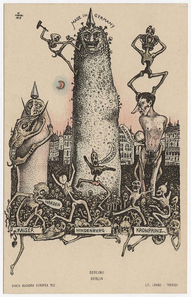 Фото №22 - Жутковатые карикатуры Первой мировой