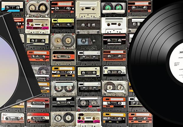 Фото №1 - Эксперты подсчитали, как менялись продажи CD, LP, кассет и аудиофайлов последние 40 лет (иконографика)