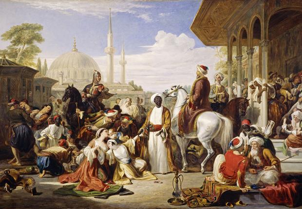 Рынок невольников вКонстантинополе. Уильям Аллен, 1838 год