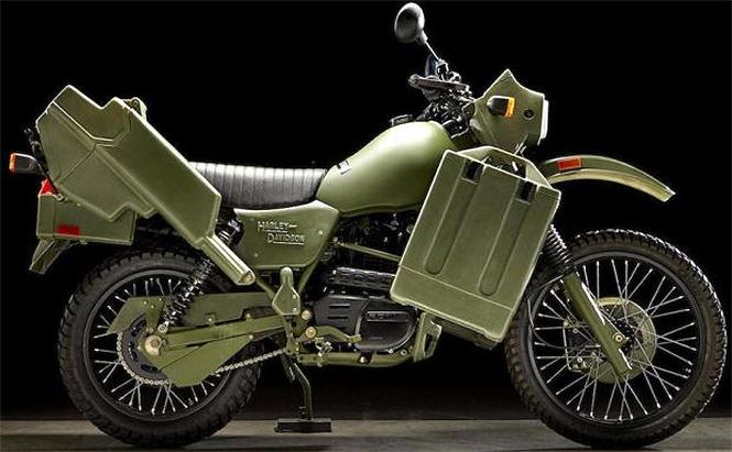 Фото №1 - «Харлей» по военным лекалам: зеленый, железный и агрессивный