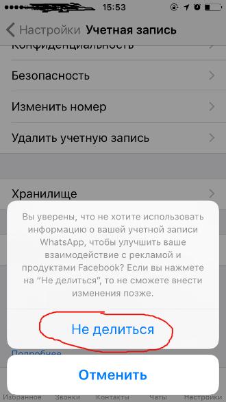 Фото №5 - Как сделать, чтобы WhatsApp не делился твоими данными с Facebook