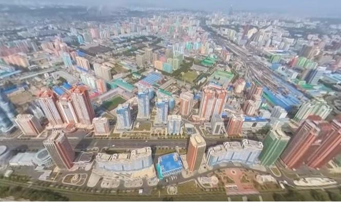 Крутейшее панорамное видео столицы Северной Кореи!