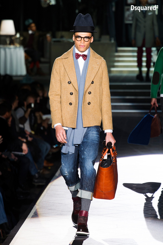 Двубортная куртка Dsquared²