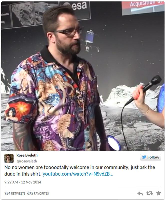 «Сексистская» рубашка Мэтта Тейлора