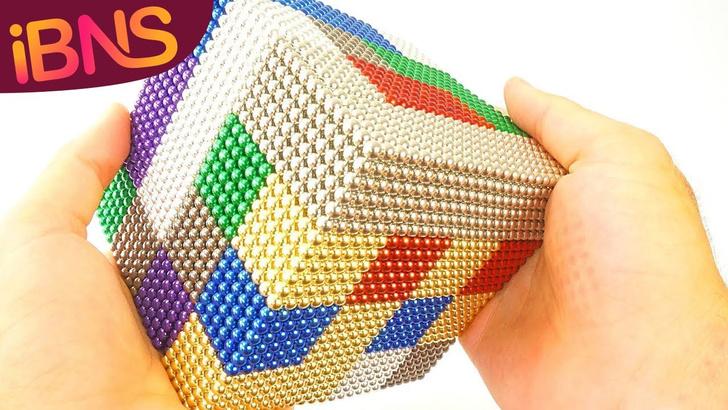 Фото №1 - Конструктор из 10 тысяч магнитных шариков (ВИДЕО для медитации)