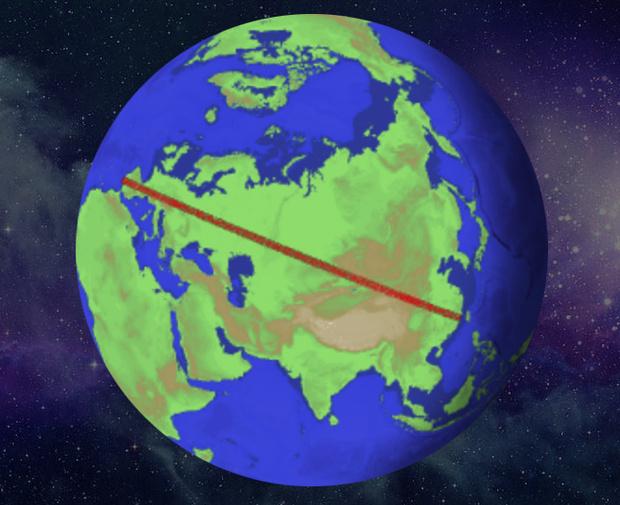 Фото №3 - Как далеко можно идти по прямой, никуда не сворачивая?