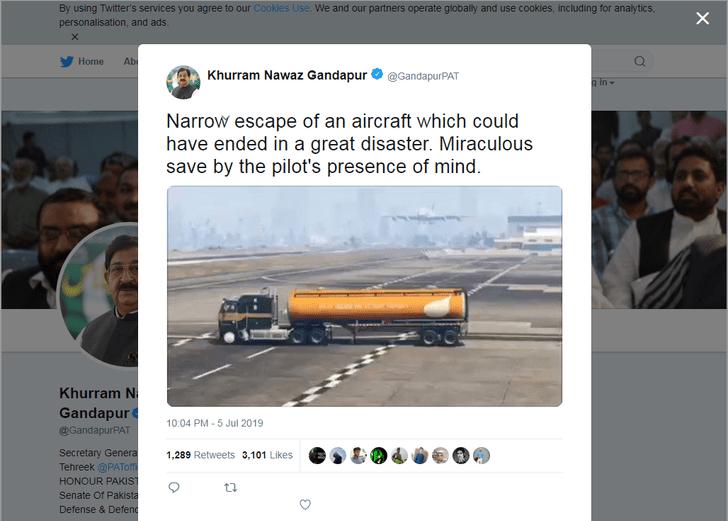 Фото №2 - Пакистанский политик похвалил пилота пассажирского лайнера за экстремальную посадку, но это оказались кадры из игры GTA