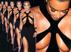 Платье Ким Кардашян стало причиной скандала