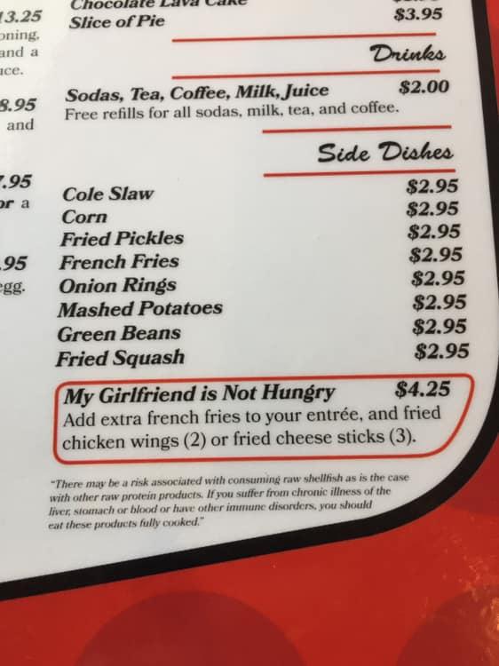 Фото №2 - Кафе придумало особое меню для визита с девушкой, которая не голодна (но будет есть из твоей тарелки)