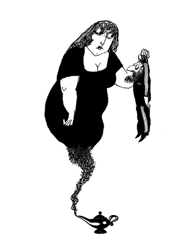 Придумай смешную подпись к этой иллюстрации из романа «Красные огурцы»