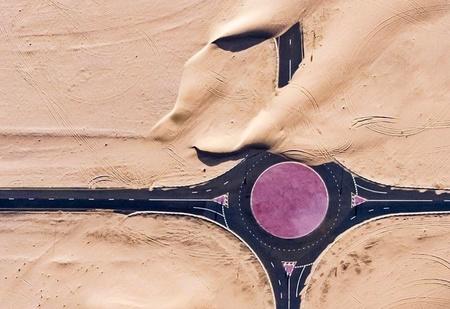 Пустыня берет своё! 23 захватывающих дух фото и 2 видео о тщете трудов человека перед лицом природы