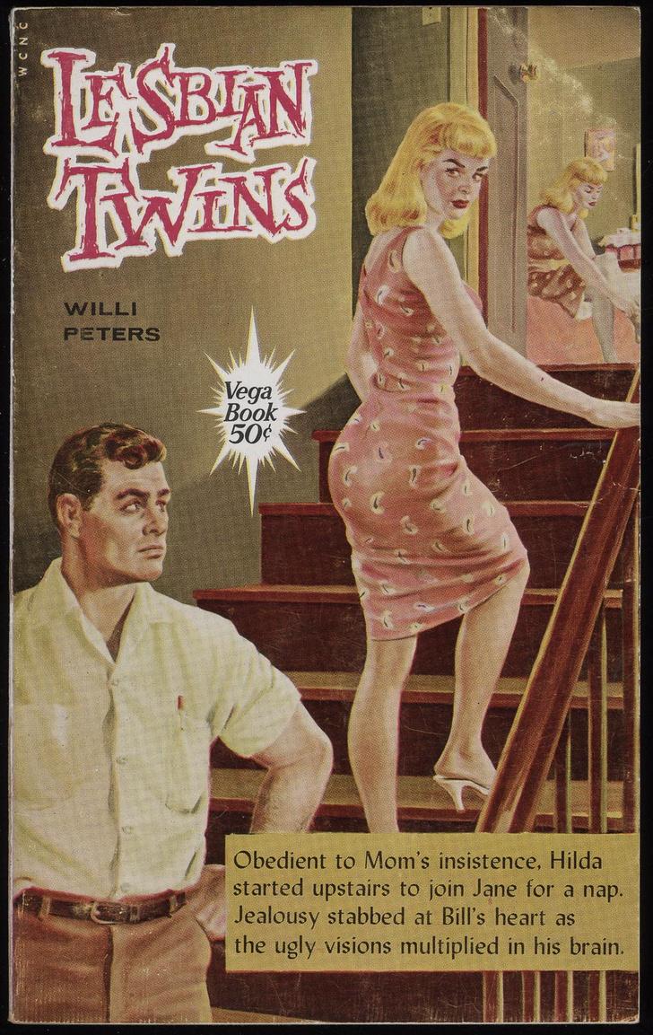 Фото №12 - Обложки старых эротических книг про лесбиянок!