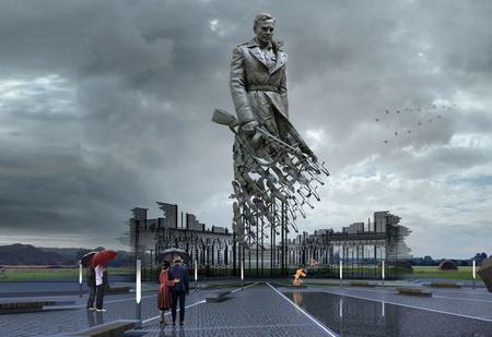 Вот такой мощный памятник советскому солдату поставят подо Ржевом!