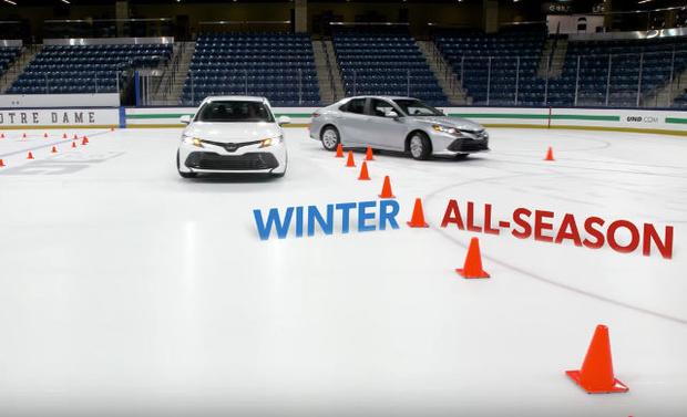 Фото №1 - Чем зимние шины лучше всесезонных (видео, расставляющее точки над i)