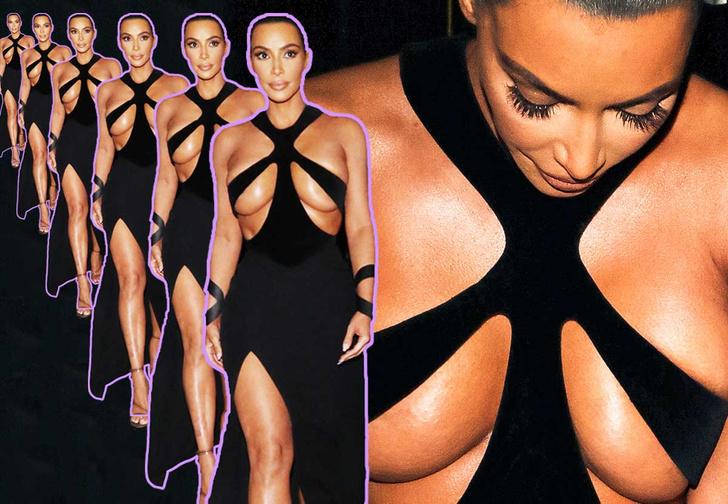 Фото №1 - Платье Ким Кардашян стало причиной скандала