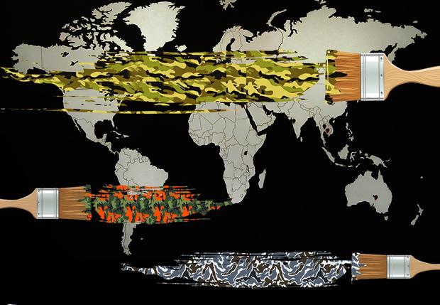 Фото №1 - Карта: маскировочная окраска всех армий мира на одной картинке