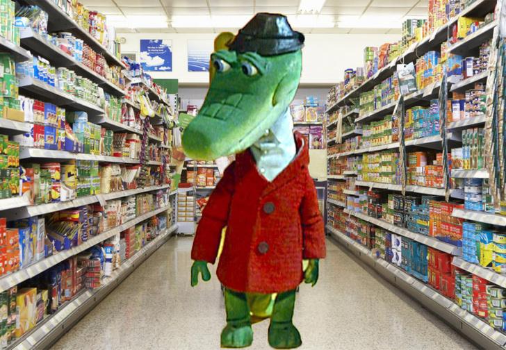 Фото №1 - Пьяный американец пришел в магазин, случайно захватив с собой живого аллигатора. Дикое ВИДЕО!