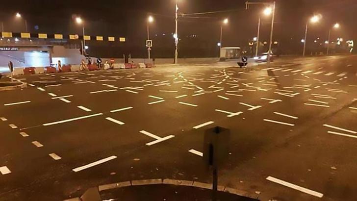 Фото №2 - Румынский перекресток с невероятно запутанной разметкой
