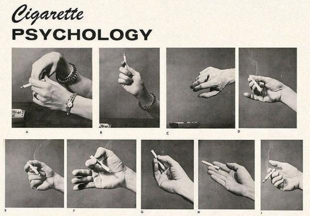 Фото №2 - Определить характер человека по тому, как он держит сигарету (ретротест в картинках)