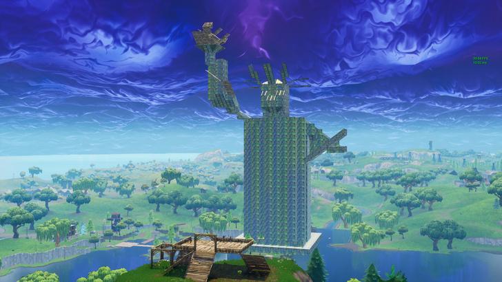 Фото №1 - Игроки в Fortnite устроили выставку архитектурных шедевров на Reddit.