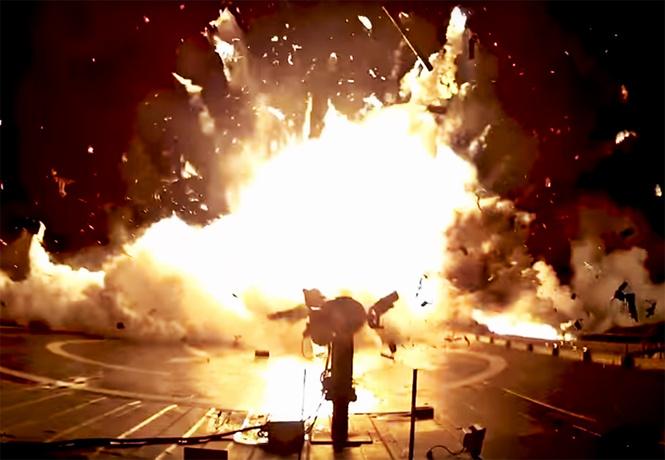 крушения falcon надежд илона маска взрывном видео