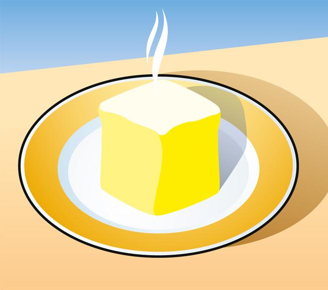 Совет без слов: как быстро размягчить сливочное масло