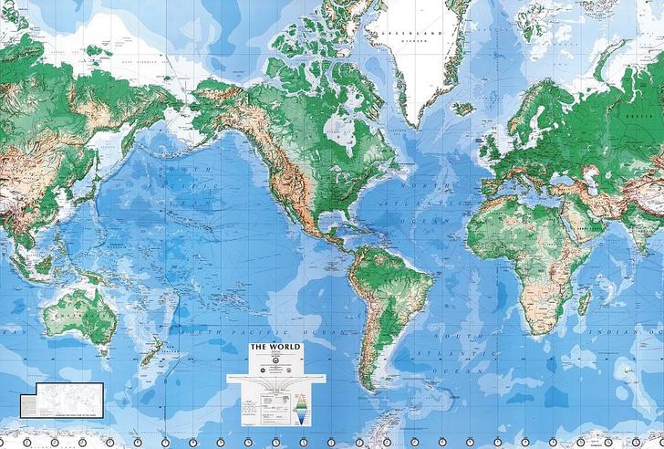 Фото №2 - Как выглядят карты мира в учебниках других стран