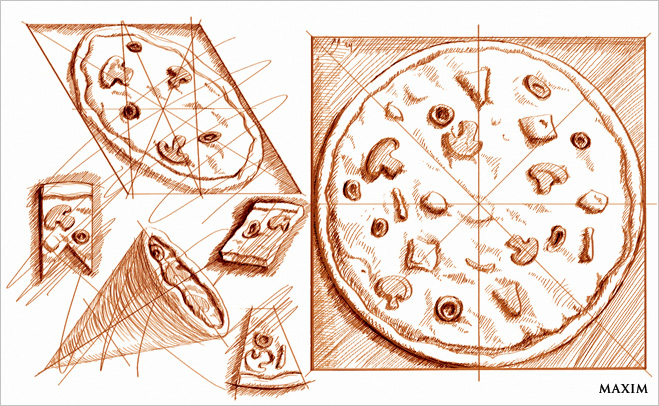 Канонические пропорции пиццы - изобретения Да Винчи