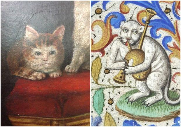 Фото №1 - 20 уморительных котов со средневековых картин