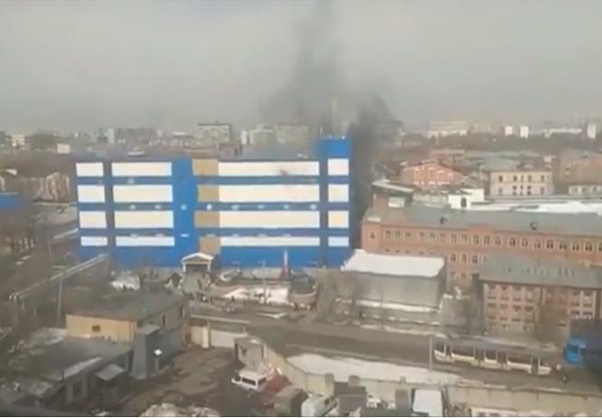 горит детский торговый центр москве видео