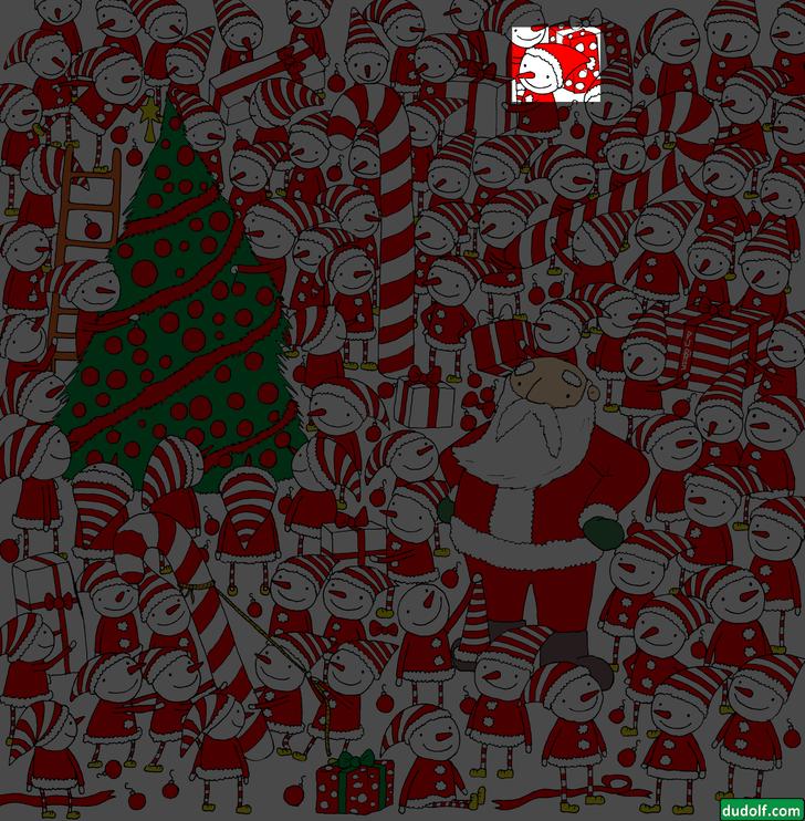 Фото №4 - Новогодняя головоломка: найди колпак Деда Мороза на этой картинке, спаси праздник