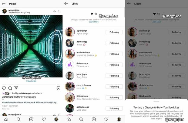 Фото №1 - В Instagram могут убрать подсчет лайков