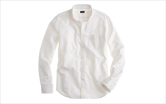 Белая рубашка из плотного хлопка