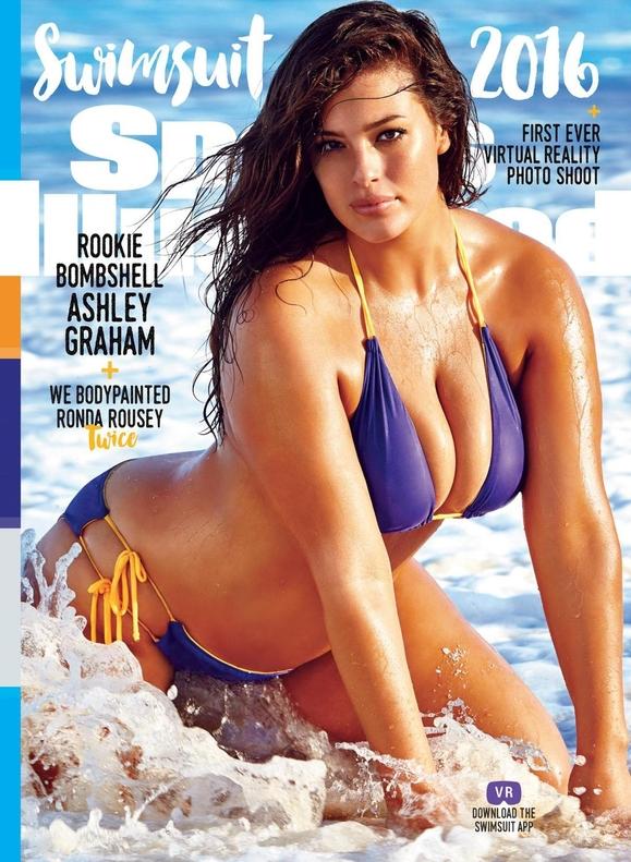 Фото №1 - Топ-модель 54-го размера появилась на обложке спортивного журнала в купальнике!