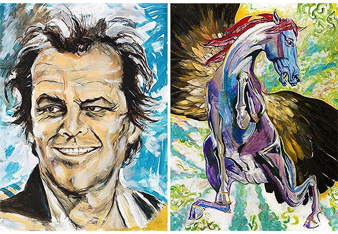 Фото №1 - Рисуй-рисуй, Паганини: 23 знаменитости, которые умеют рисовать
