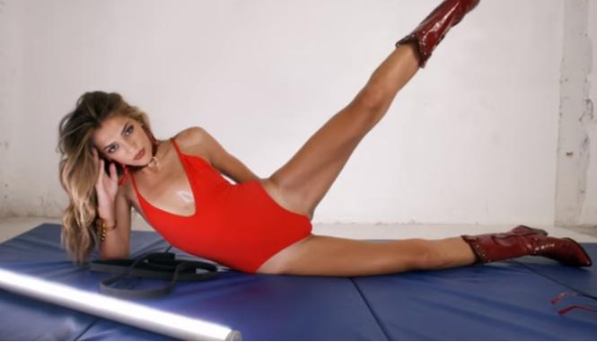 Дочь Сильвестра Сталлоне в неприлично спортивном видео!