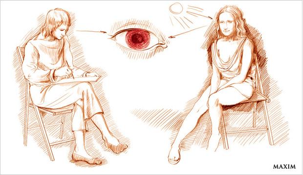 Объяснение эффекта красных глаз