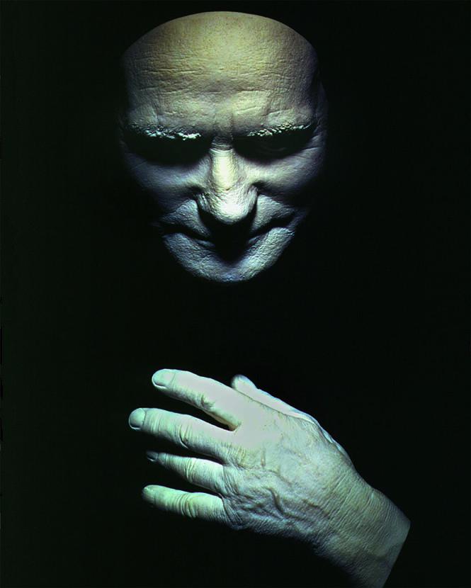 Посмертные слепки с лица и руки Альберта Пьерпойнта