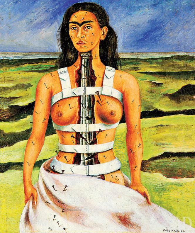 «Сломанная колонна», Фрида Кало, 1944