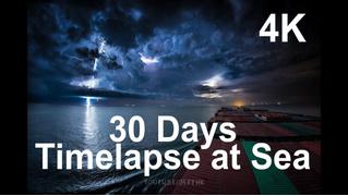 Штиль и шторм: 30-дневное путешествие контейнеровоза за 10 минут (видео для медитации)
