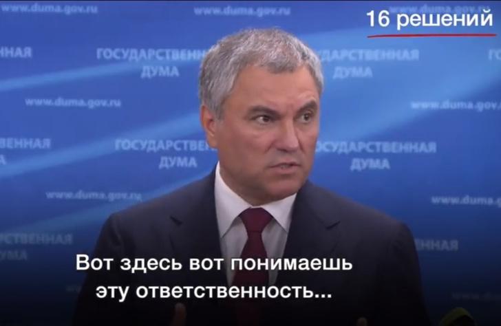 Фото №1 - Володин поставил рекорд по избеганию выражения «пенсионная реформа» (видео)