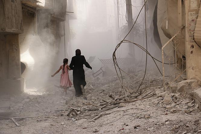 Дамаск после воздушного удара. Сентябрь 2015 г.