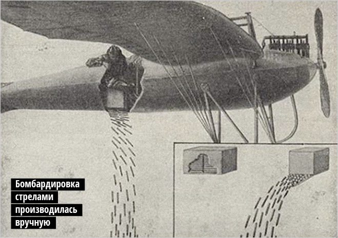 Бомбардировка стрелами производилась вручную