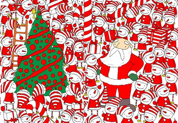 Фото №1 - Новогодняя головоломка: найди колпак Деда Мороза на этой картинке, спаси праздник