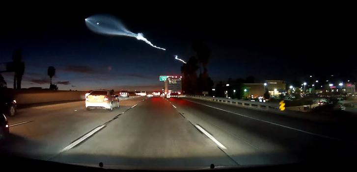 Фото №2 - Запуск Falcon 9 над Калифорнией: эпичное видео с регистратора!