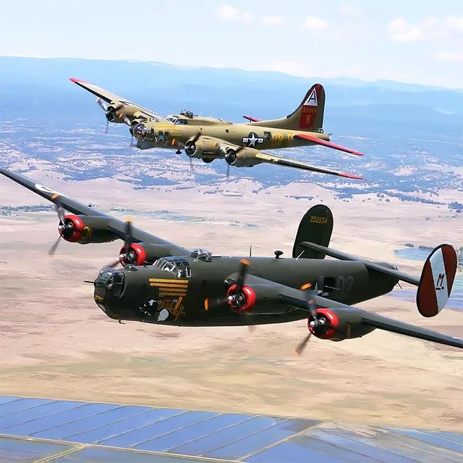 Фото №3 - Военные реконструкторы вышли на новый уровень! Стань пилотом бомбардировщика и сбрасывай бомбы!