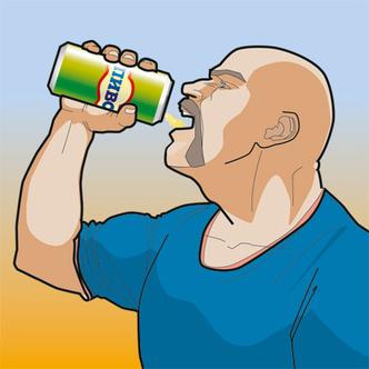 Фото №1 - Как эффектно расплющить пивную банку лбом