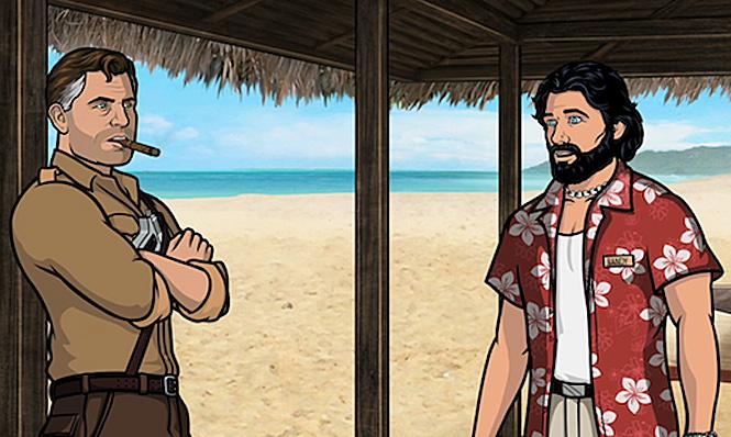 Арчер в гавайской рубашке