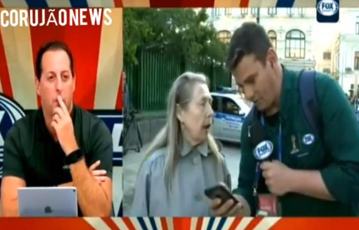 Фото №1 - Бразильский корреспондент берет интервью у простой русской женщины. И это надо ВИДЕТЬ