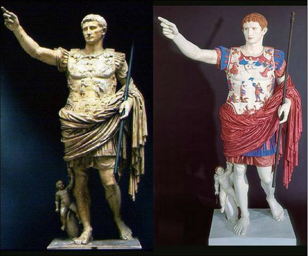 Фото №4 - Полюбуйся, как на самом деле выглядели античные статуи!